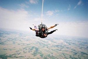 skydiving with friend